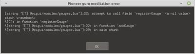 Pioneer guru meditation error 001